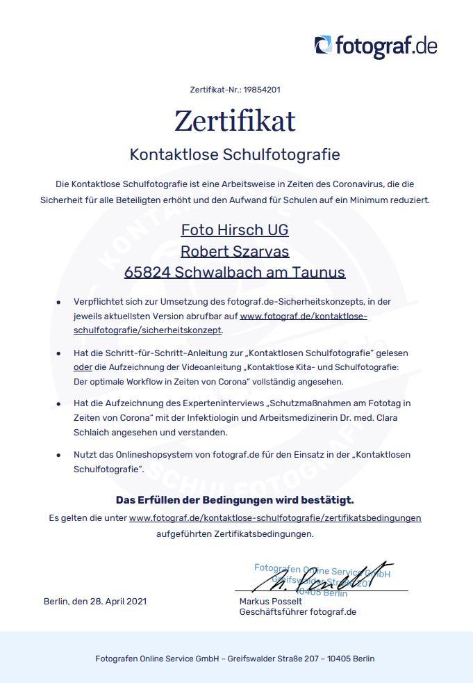 Zertifikat Fotograf.de